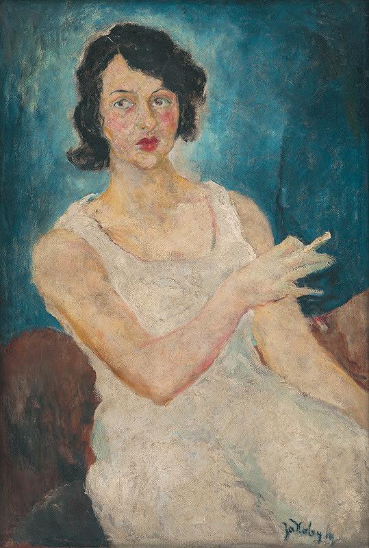 Július Jakoby – Žena v bielom