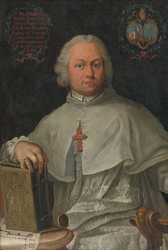 Johann Lucas Kracker - Podobizeň preláta Andreja Sauberera