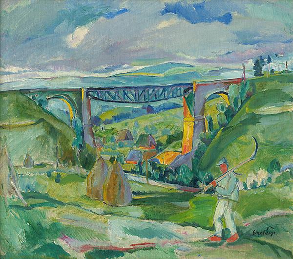Vojtech Erdélyi - Krajina s mostom