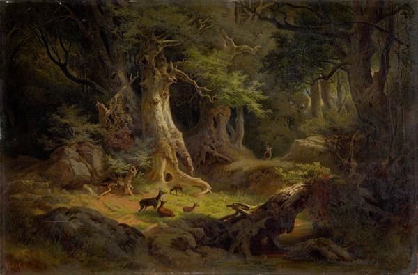 Gusztáv Keleti - Les so stádom sŕn