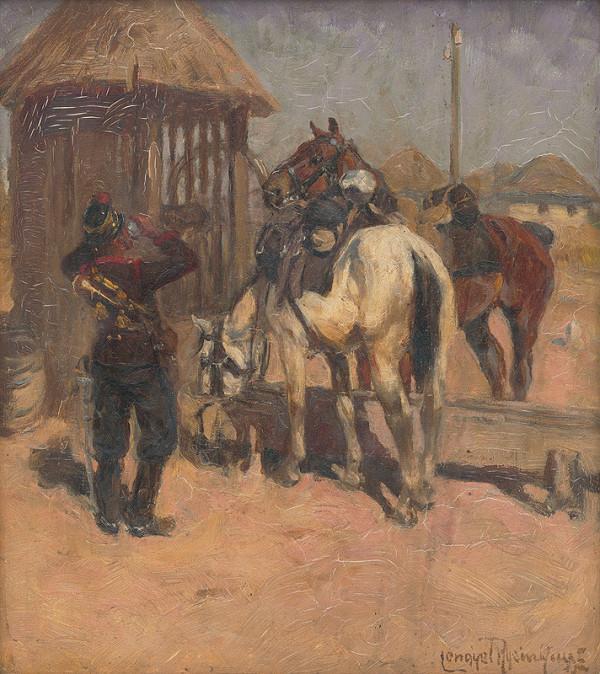 Ede Lengyel-Rheinfuss – Husár pri studni