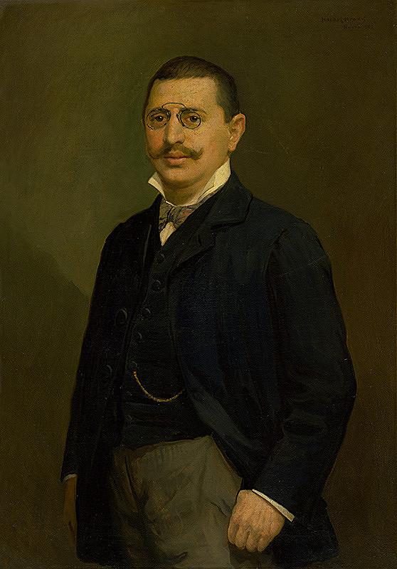 Elemír Halász-Hradil - Portrét Pavla Halmiho
