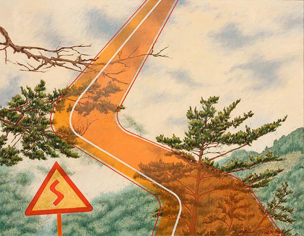 František Veselý - Cesta v horách