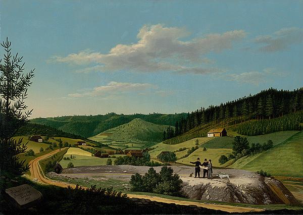Jozef Czauczik – Pohľad na Rochusovu štôlňu v Rudňanoch