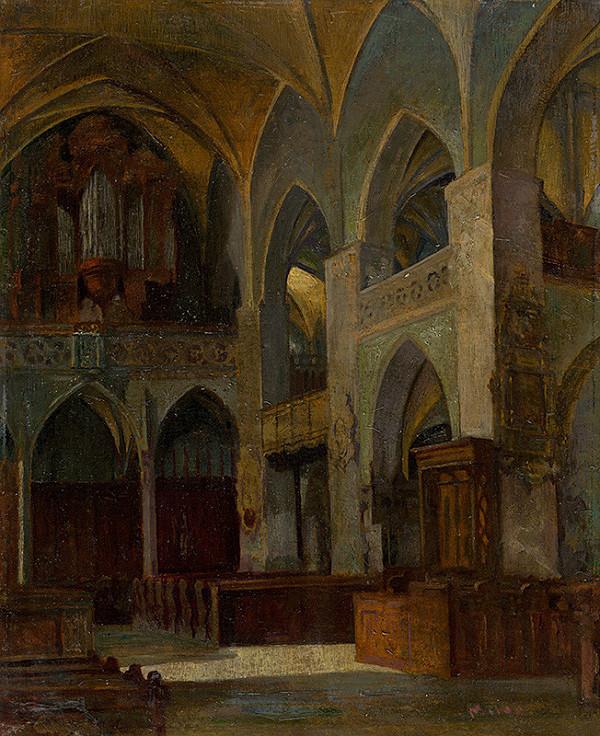 Milan Florián – Vnútro kostola sv. Jakuba v Levoči