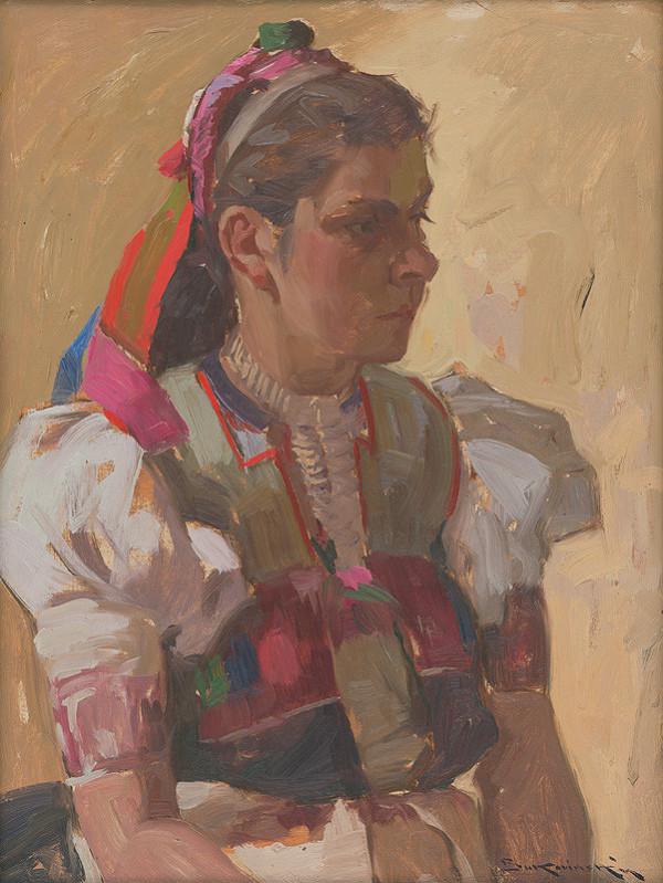 Július Bukovinský - Dievča v kroji