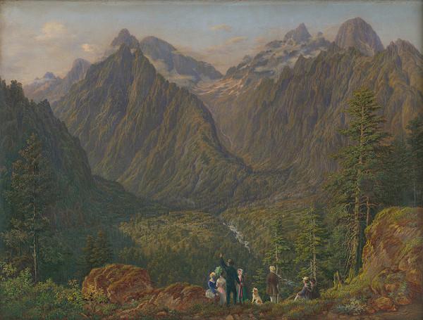 Karol Tibély – Tatranská krajina s figurálnou štafážou