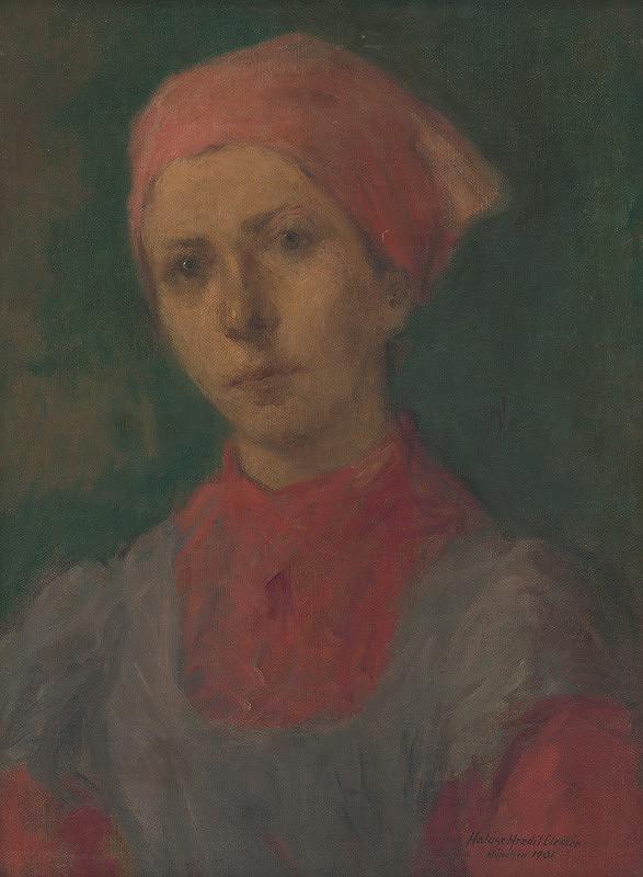 Elemír Halász-Hradil - Sedliacke dievča