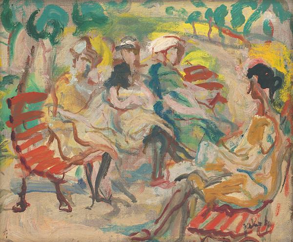 Július Jakoby - Dievčatá na lavičke