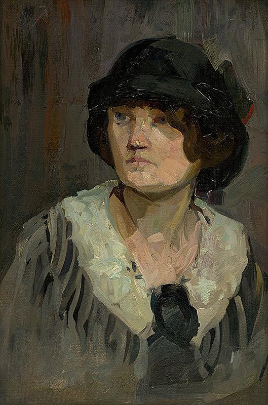 Anton Kubek - Žena v klobúku