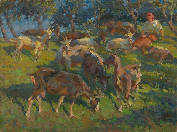 Gejza Kieselbach – Pasáčka s kozami
