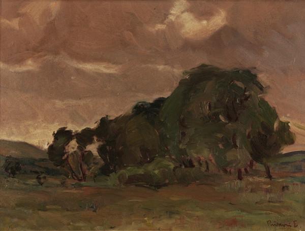 Ernest Rákosi - Krajina so skupinou stromov