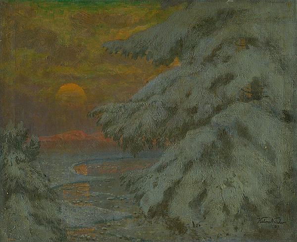 Ferdinand Katona - Západ Slnka v zime