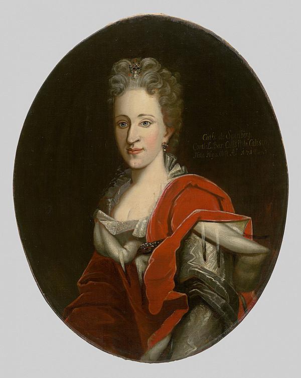 Stredoeurópsky maliar z 1. polovice 18. storočia - Podobizeň Kataríny Spierbergovej