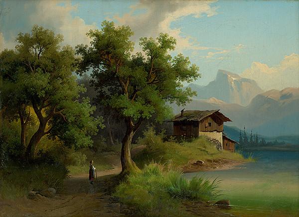 Západoeurópsky maliar z 1. polovice 19. storočia – Alpská krajina