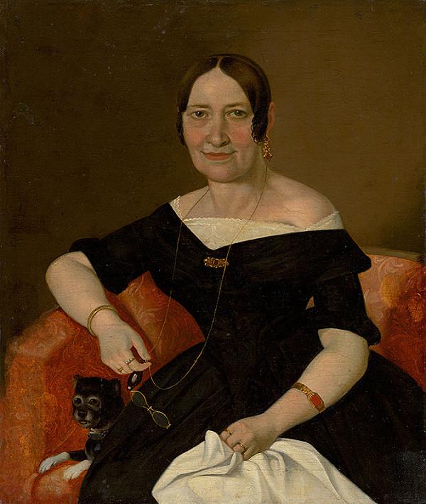 Stredoeurópsky maliar z 1. polovice 19. storočia - Dáma v kresle