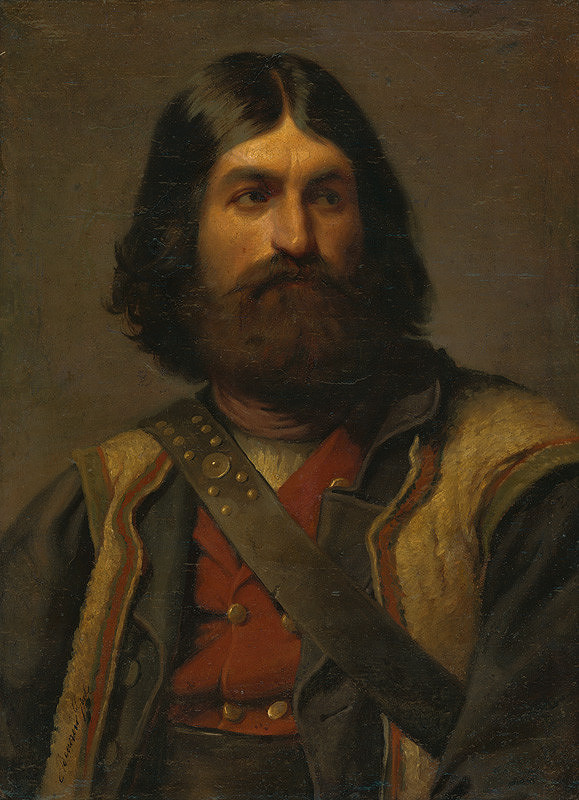 Gyula Benczúr - Podobizeň muža s bradou