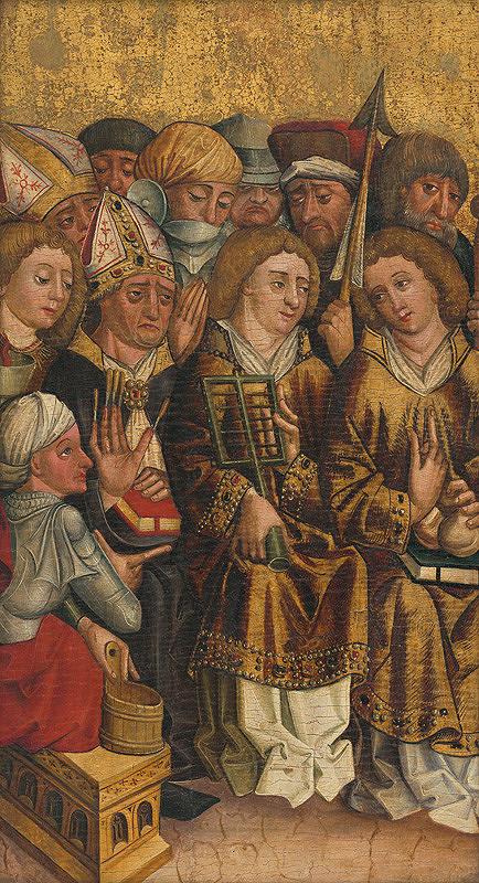Slovenský maliar z 2. polovice 15. storočia, Stredoeurópsky autor z 15. storočia – Skupina deviatich svätcov - vyznávačov, fragment oltárneho krídla