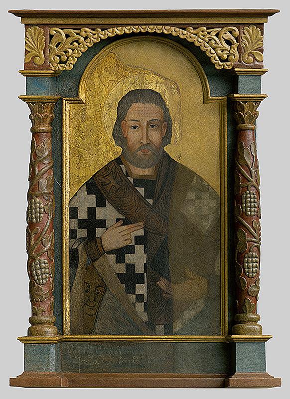 Stredoeurópsky maliar z 2. polovice 18. storočia – Ikona - obraz sv. Nikolaja