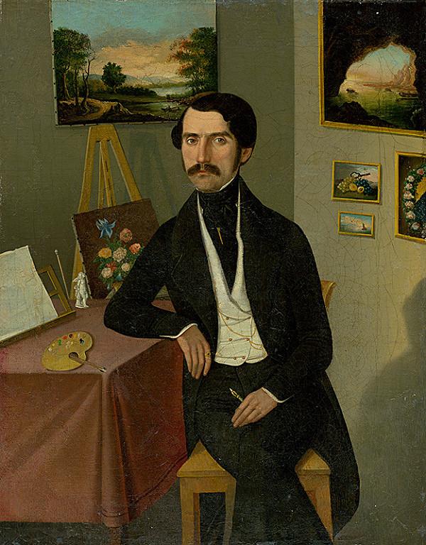 Stredoeurópsky maliar z 1. polovice 19. storočia – Podobizeň muža