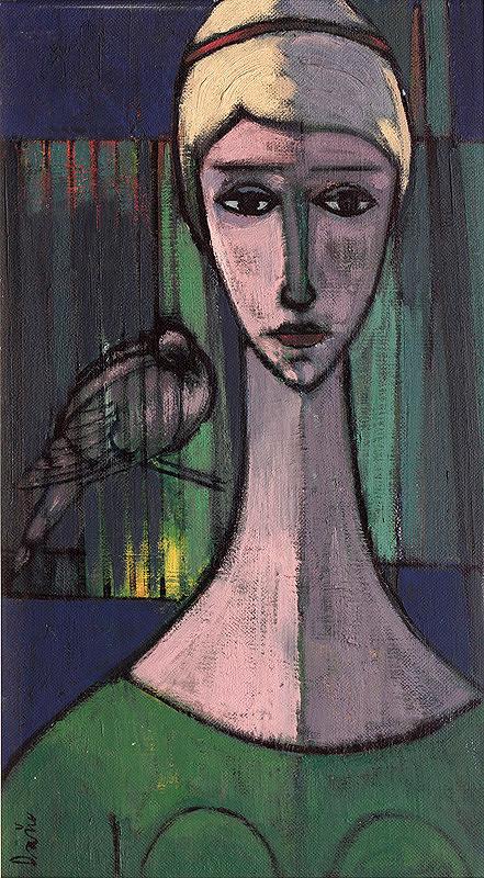 Juraj Daňo – Žena s papagájom