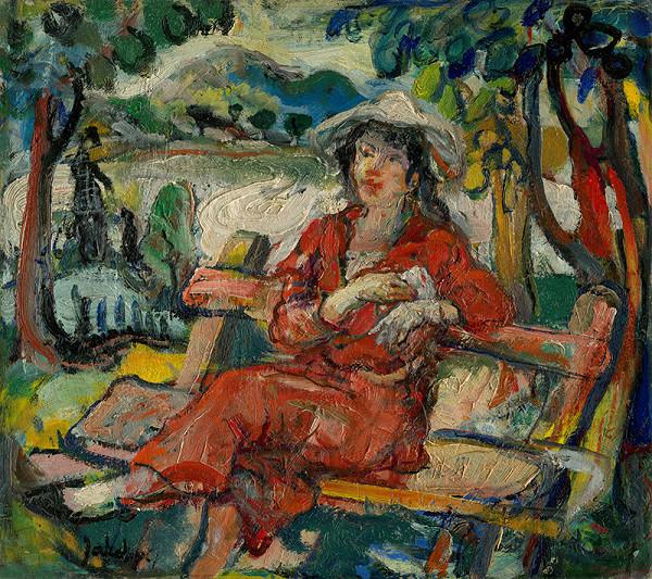 Július Jakoby – Žena v červenom