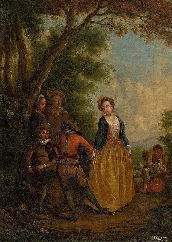Západoeurópsky maliar z 2. polovice 19. storočia - V parku
