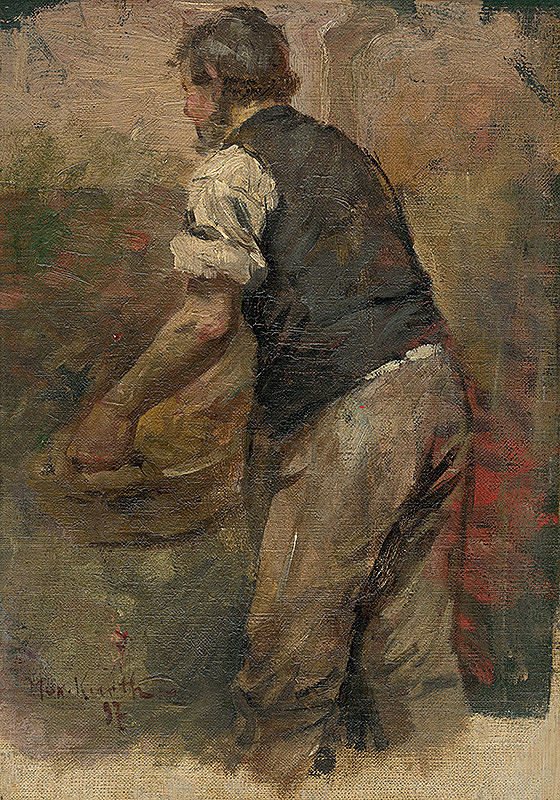 Maximilián Kurth - Štúdia k obrazu Bacchus