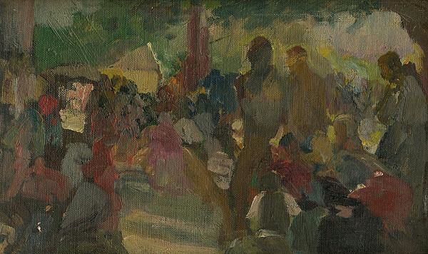 Maximilián Kurth – Štúdia k obrazu Odpust