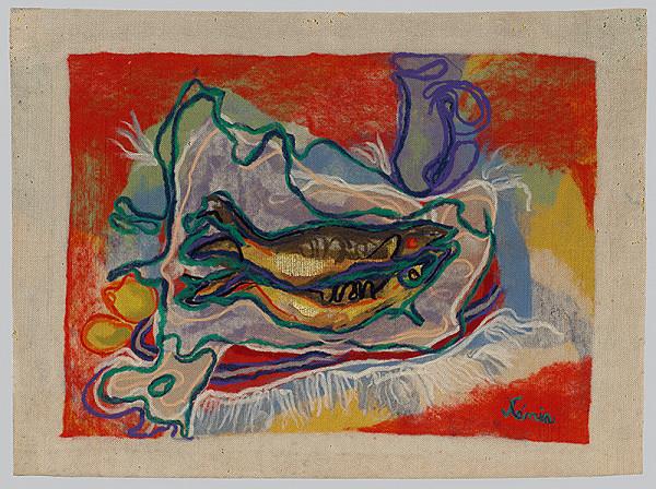 Xénia Columby-Sinayová - Zátišie s rybami
