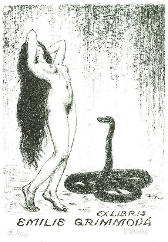 František Kobliha – Ex libris, Emilie Grimmová