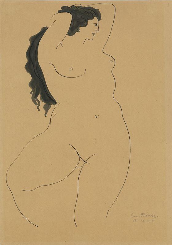 Emanuel Frinta – Žena s černými vlasy
