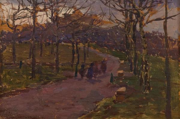 Antonín Slavíček – Na jaře v letenském parku