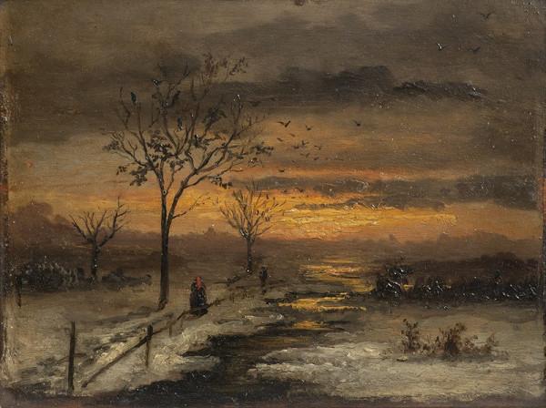 Antonín Waldhauser – Zimní krajina s červánky