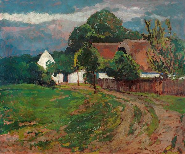 Antonín Slavíček – Cesta do vsi (silnice, Motiv z Hostišova)