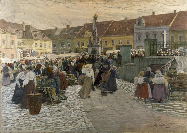 Johann Nepomuk Geller – Trh v Hustopečích