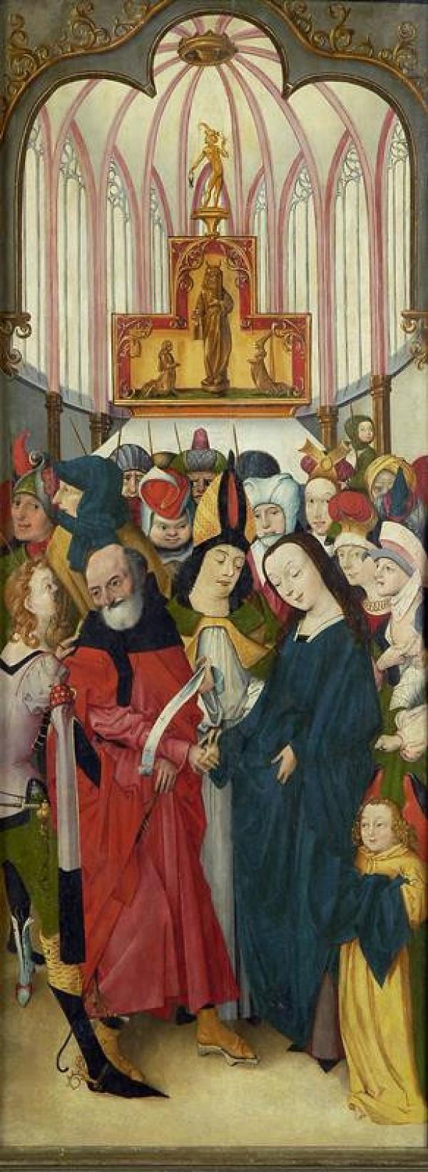 neznámý malíř severoněmecký (vestfálský?) – Zasnoubení P. Marie