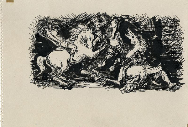 František Kaláb - Zápas na koních