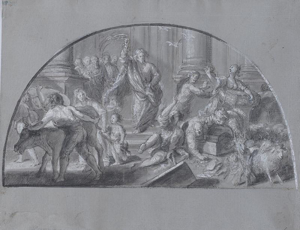 neznámý malíř italský - Vyhnáná z chrámu