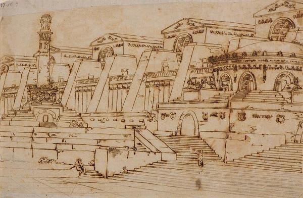 neznámý malíř italský - Architektura