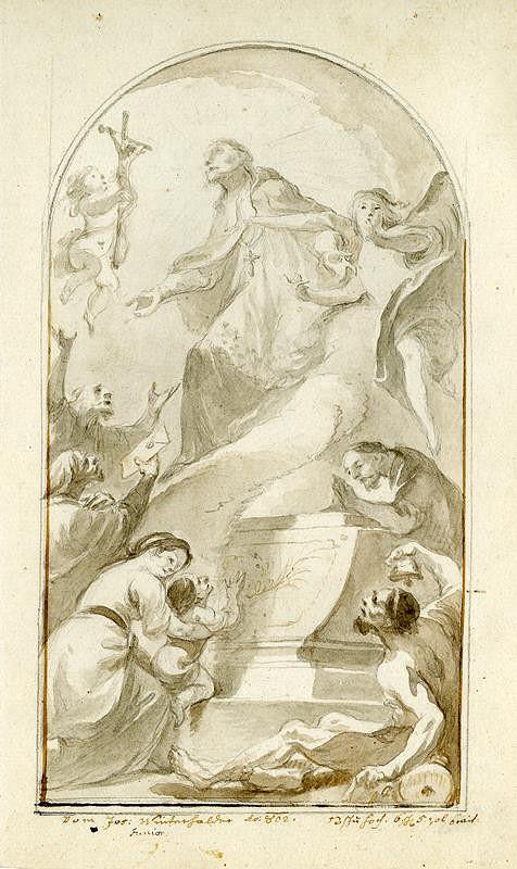 Josef Winterhalder II. (Winterhalter) - Sv. Jan Nepomucký jako přímluvce
