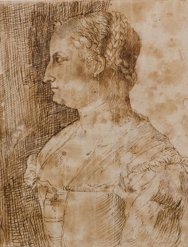 neznámý malíř benátský - Poprsí ženy z profilu