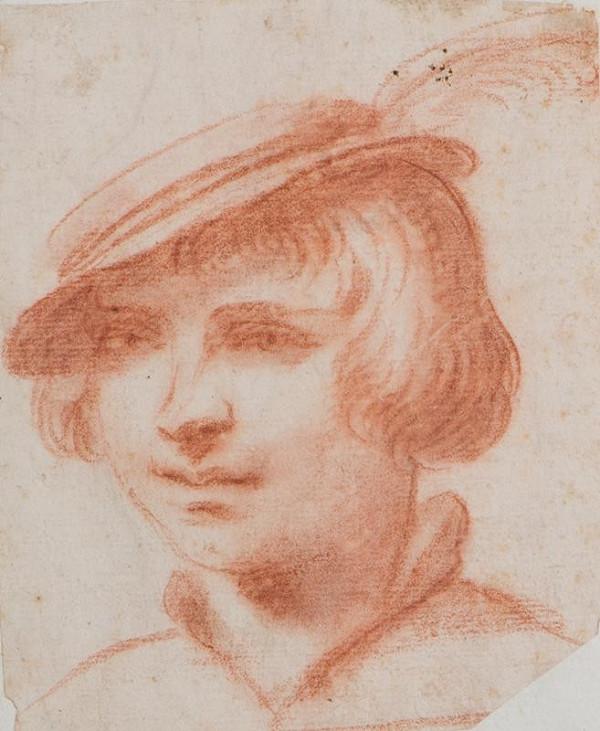 neznámý malíř italský - Hlava hocha