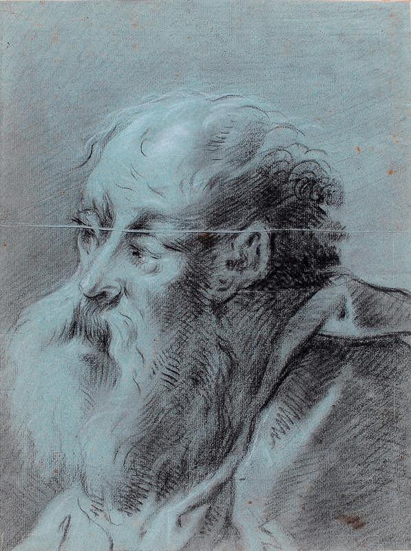 neznámý malíř benátský - Hlava starého muže