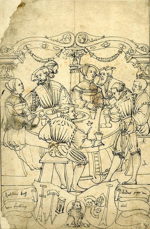 Hieronymus Lang - Společnost u stolu