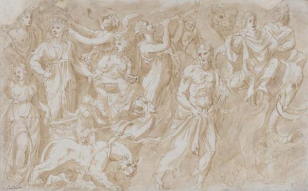 neznámý malíř – Mytologický triumf