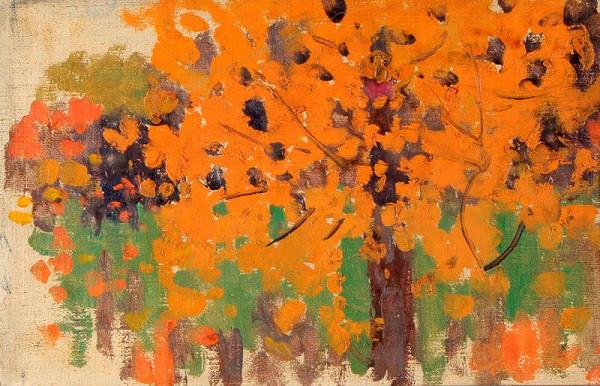 Joža Uprka – Studie stromu z Pohřbu