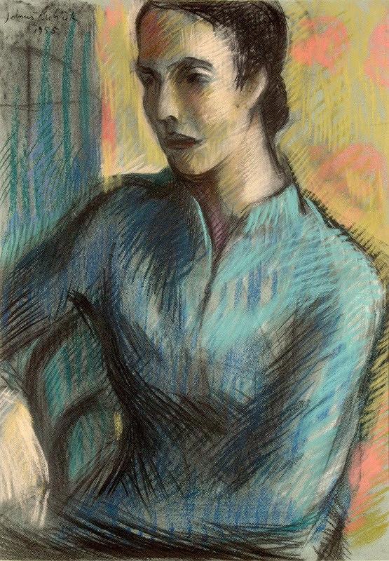 Jánuš Kubíček – Studie sedící ženy