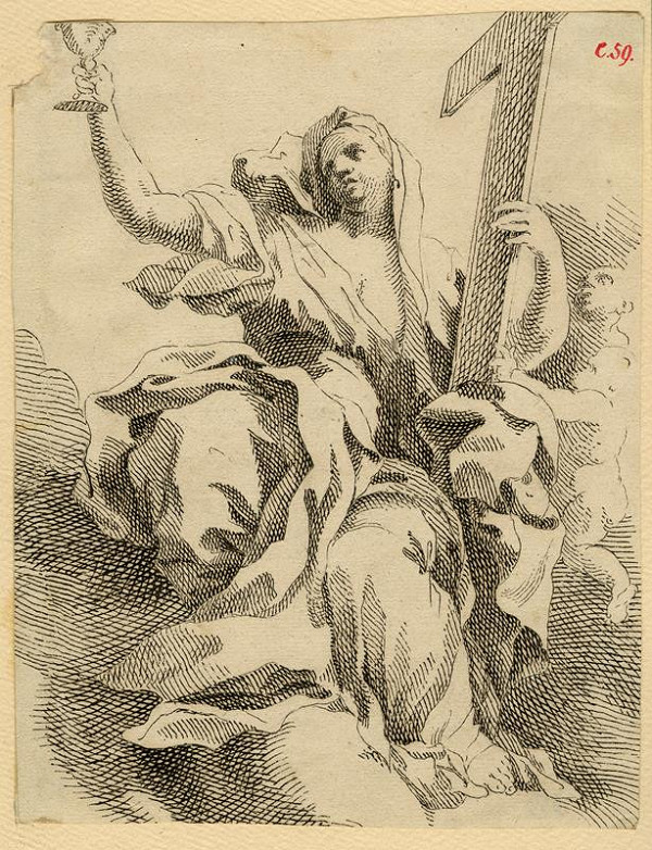 Josef Winterhalder I. (Winterhalter) - Alegorie církve (Svatá s křížem)