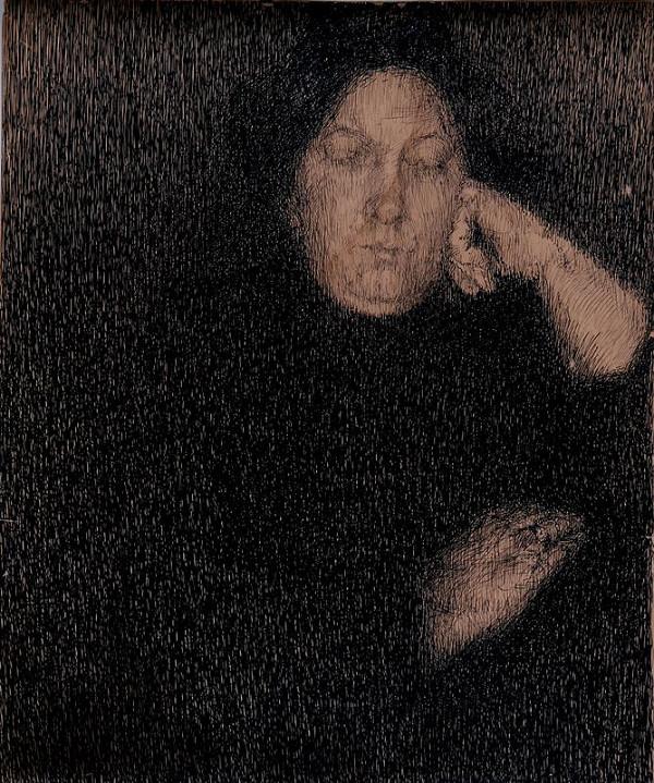 Emil Filla - Podobizna umělcovy matky paní Fillové